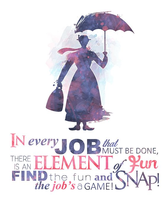 In every job that must be done, there is an element of fun. Find the fun and snap! The job's a game!